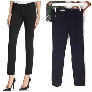 AG The Stilt Cigarette Leg Black Jeans 26R Denim